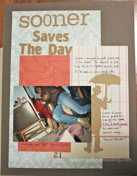 Sooner saves the day || noexcusescrapbooking.com