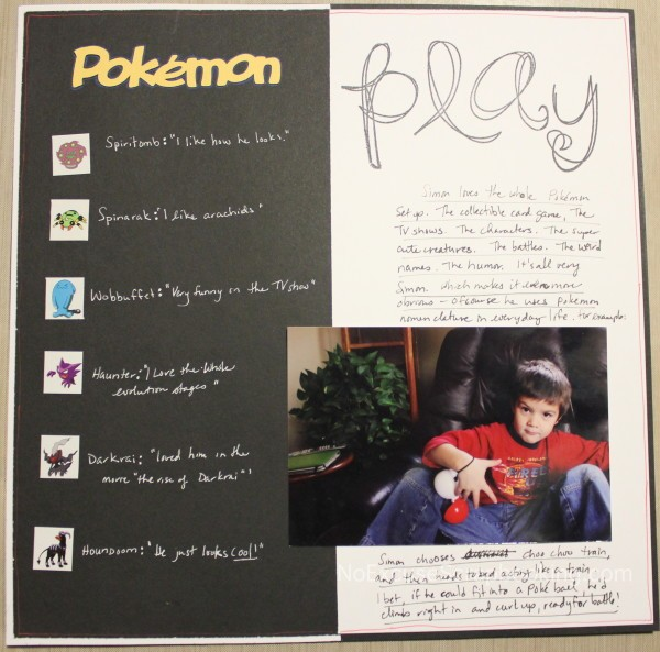 Pokemon Play || noexcusescrapbooking.com