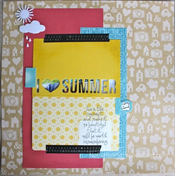I {heart} summer || noexcusescrapbooking.com