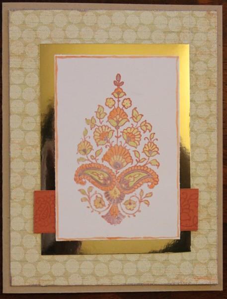 Henna inspired card    noexcusescrapbooking.com