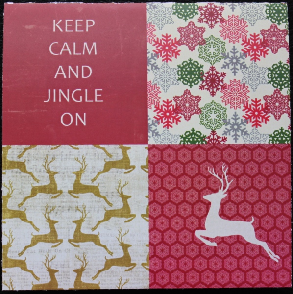 jingle card front    noexcusescrapbooking.com