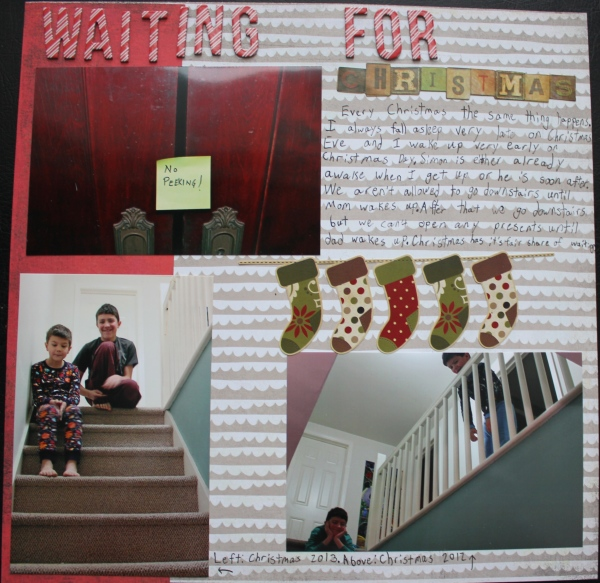 Waiting for Christmas  NoExcuseScrapbooking.com